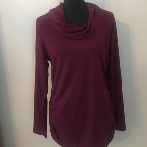 CAbi Style 132 Merlot Twist Neck T-shirt